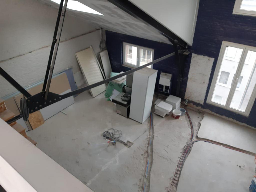 - View from the mezzanine before the decorating works