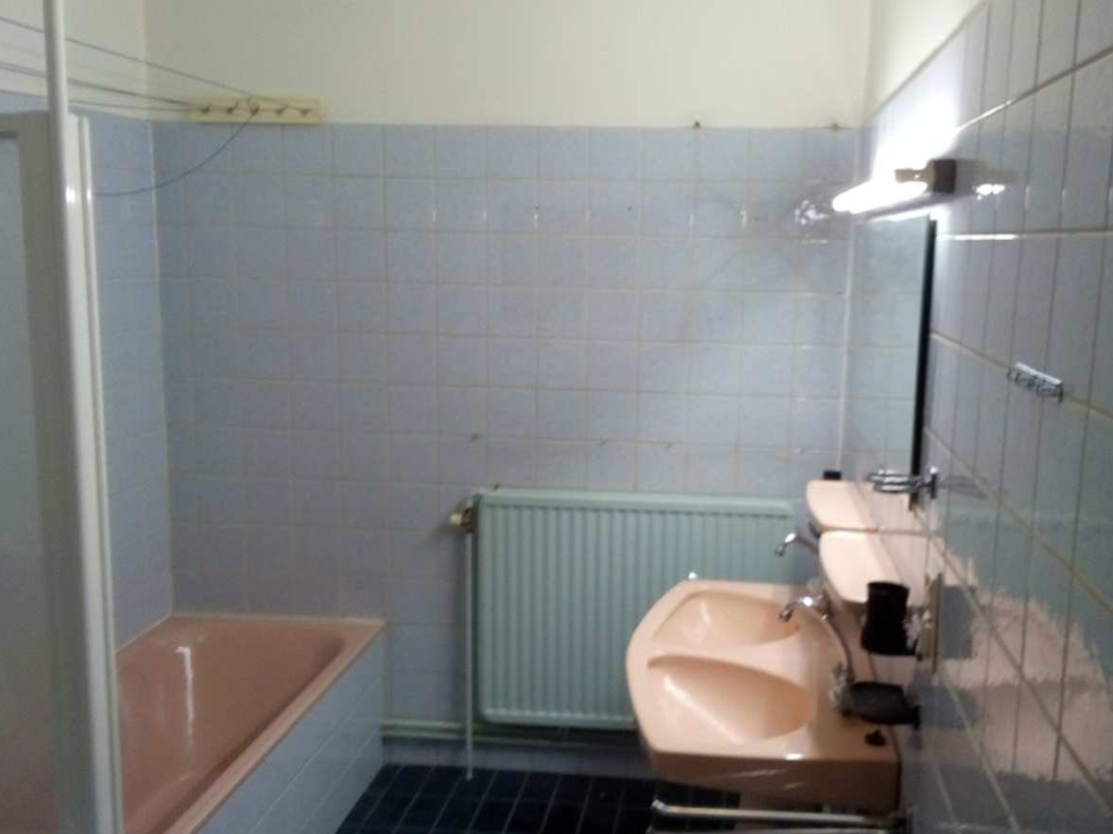 - The bath room before the renovation
